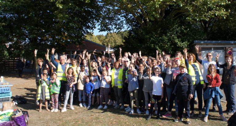 Photo de la participation de l'association Takoda à la Journée World Clean Up Day 2019 à Lille