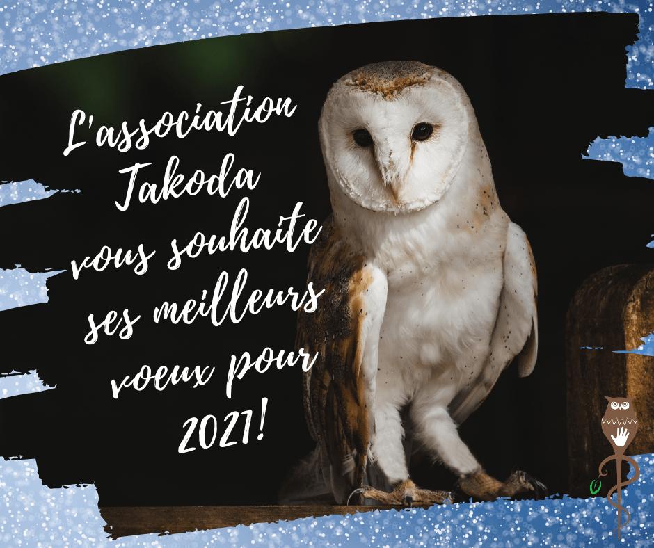 L'association Takoda vous souhaite ses meilleurs voeux pour 2021