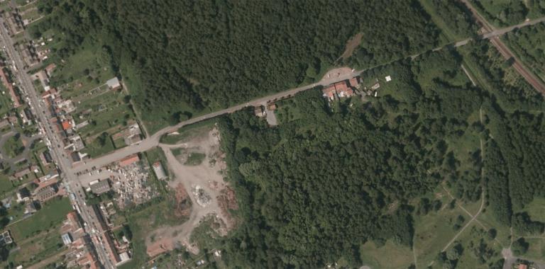 Photo satellite de 2012 du terrain de Raismes pour illustrer l'article : 6 mois sous le signe de l'évolution pour le centre soins pour la faune sauvage !